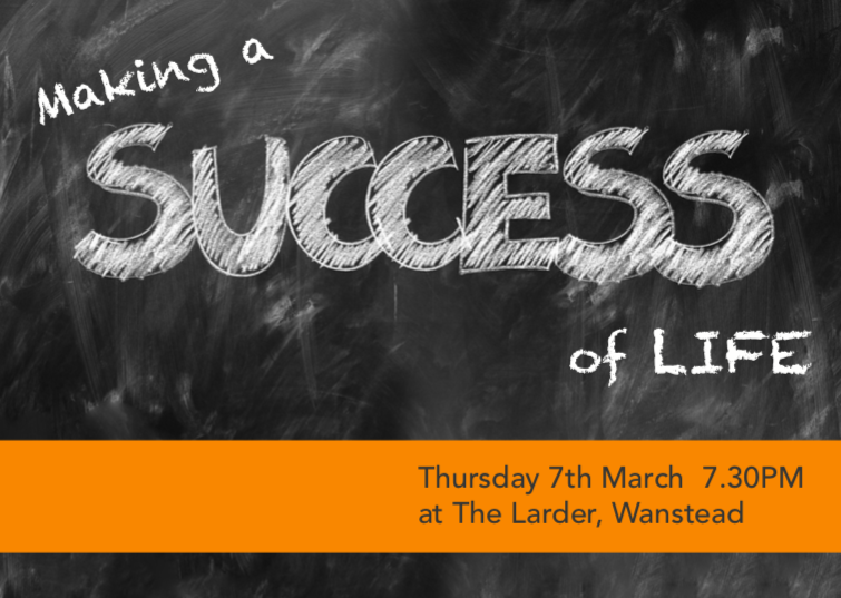 """Special Event: """"Making a Success of Life"""" – Grace Church"""